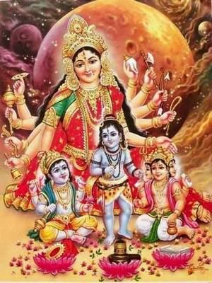 Maa Durga Matru-rupen